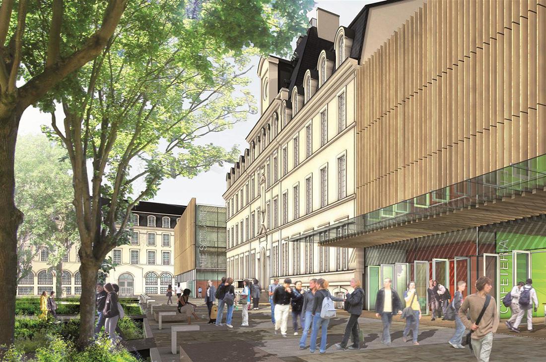 Projet de restructuration du Lycée Jean Jaurès à Reims
