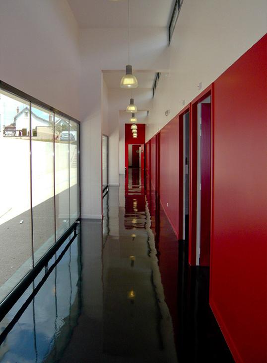 ARCEN Dijon couloir intérieur design
