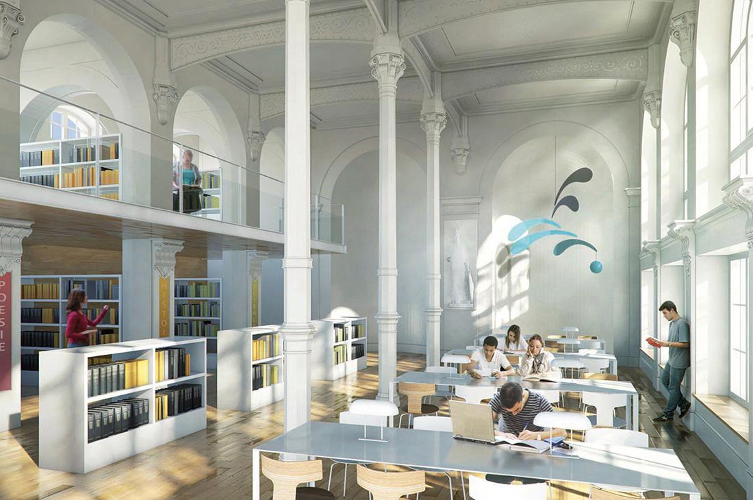 Lycée Jean Jaurès Reims bibliothèque